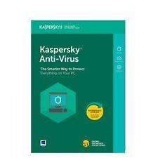 Kaspersky Antivirus 2018 1PC / Device 1 Year license key download serial