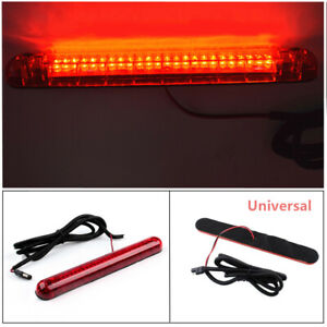 Car Universal Rear Window Rear Tail Light High Mount Stop Brake Lamp 24 LED Red