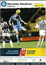 Wycombe Wanderers Home Team League Two Football Programmes