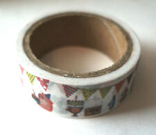 happy birthday themed washi masking tape 15mm wide 5m roll kawaii
