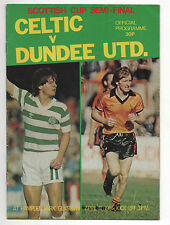 Orig.PRG  Schottland / Scottish Cup 80/81   CELTIC GLASGOW - DUNDEE UTD  1/2 F.