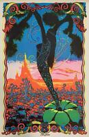 Desert Blossom Black Light 1970's Original Poster 23 x 35