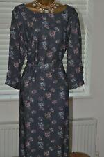 ~ LAURA ASHLEY ~ Grey Floral Tunic Dress Size 16 - 18