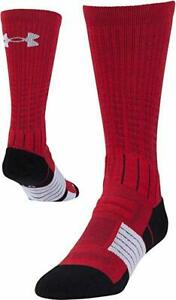 Under Armour Unrivaled Basketball Gym Crew Socks 1 Pair Sz Mens Large 10-13 Red