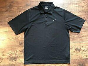 NIKE GOLF Dri-Fit Men's Size Medium Black Short Sleeve Polo T-shirt