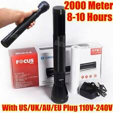 Focus 3D SIZE 2000Meter CREE LED TACTICAL RECHARGEABLE POLICE FLASHLIGHT Torch
