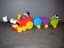 Disney Petit Train Sonore et Parlant +  Figurines  MICKEY et MINNIE  Long 45 cm