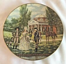 """Gorham China """"Monticello"""" Limited Edition 10 1/2 inch gold trim Collector Plate"""