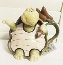 CUTE TURTLE TEAPOT *COLLECTABLE CERAMIC* BLUE SKY  NEW DESIGN FREE POST