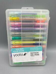 Yoobi 24 Pack Scented Gel Pens Art Craft Drawing FREE SHIPPING