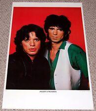 Rolling Stones Mick JAGGER & Keith RICHARDS Poster 1970's Ben Lux Belgium 1270