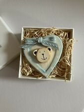 New East Of India New Baby Boy Keepsake Box With Wooden Heart
