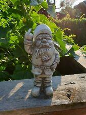 Steinfigur Gartenfigur Dekofigur NEU 58cm 13kg Zwerg Vogel Steinguss Statue Deko