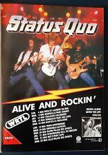 Publicité advert concert album Lp advertising STATUS QUO 1981 tournée française
