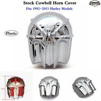 1x Motorcycle Skull Trumpet Horn Cover for 1992-2013 Harley Softail Touring Dyna