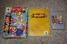 Super Smash Bros. (Nintendo 64 n64, 1999) Complete in Box FAIR A B