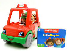 Fisher Price Little People Pizza Delivery Truck Man, Preschool Vehicle w/ Figure
