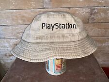 VINTAGE Retro PLAYSTATION One Fishing Bucket HAT PS1 PROMO CAP RARE 90s