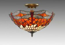 DRAGON TIFFANY STYLE GLASS HANDCRAFTED  CEILING LIGHT