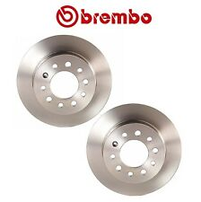 Pair Set of 2 Rear Disc Solid Brake Rotor Brembo for Hyundai Tiburon 2003-2008