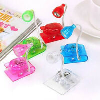 Mini Led Clip On Adjustable Book Night Bright Reading Light Lamp Random