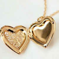 Locket Necklace  Love Snake Chain Gift Pendant Fashion Jewelry Heart Shape