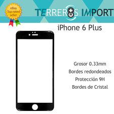Cristal Templado Pantalla Completa iPhone 6 Plus 6s Plus Negro 5D Full Cover
