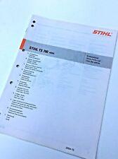Stihl TS700 Workshop Spares Parts List 0452 376 1323
