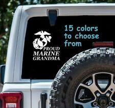 8 Sizes Proud Marine Grandma Car Window Decal Sticker Tablet Macbook Laptop