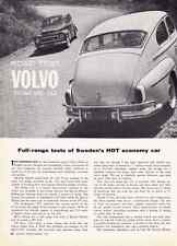 1961 VOLVO PV 544 & 544  ~  NICE ORIGINAL 4-PAGE ROAD TEST / ARTICLE / AD