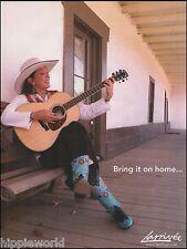 Juni Fisher Larrivee Model P-09 acoustic guitar ad 8 x 11 advertisement print