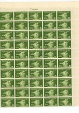 PHILIPPINES  #384 1935 WOMAN & CARABAO full sheet of 50 some perf. separated