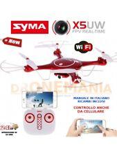 DRONE  SYMA X5 UW rosso WIFI BLOCCO ALTEZZA barometro FPV camera  *SOTTOCOSTO!*