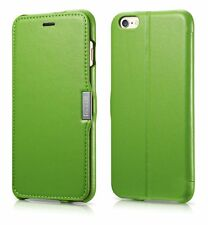 Cover in pelle, per Apple iPhone 5 / 5S e iPhone 6, apertura laterale, (E0n)