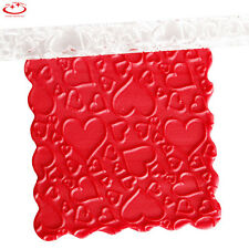 Heart Effect Textured Embossing Acrylic Rolling Pin Fondant Cake Decoration Tool