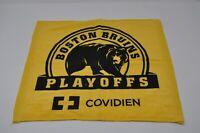 BOSTON BRUINS NHL PLAYOFFS YELLOW RALLY TOWEL COVIDIEN