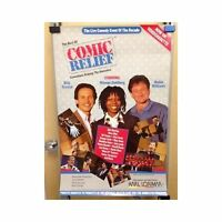 COMIC RELIEF Original Home Video Poster Whoopie Goldberg Robin Williams