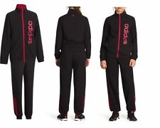 GIRLS ADIDAS BLACK TRACKSUIT 13-14 YEARS COTTON/POLYESTER NEW £26.99