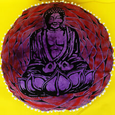 "34"" Indian Mandala Round Floor Buddha Pillow Decor Meditation Cushion Cover"