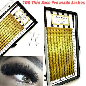 Sharp Thin Premade Russian Volume Fan Fanning Lashes  10D Eyelash extension