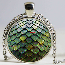 Game of Thrones Dragon Egg Silver Necklace Daenerys Targaryen Glass Dome (F145)