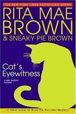 Mrs. Murphy Mystery: Cat's Eyewitness by Sneaky Pie Brown + Rita Mae Brown 2005