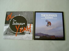 "THE SUBWAYS job lot of 2 7"" vinyl singles Oh Yeah Alright"