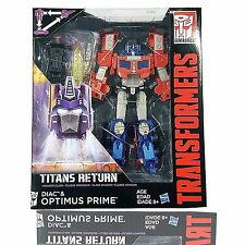 Transformers Hasbro Titans Return W3/17 Voyager Diac & Optimus Prime NEW AU