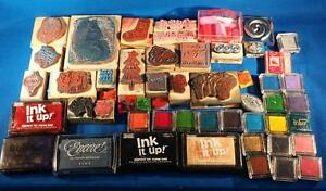 Lot of Rubber Stamps and Ink