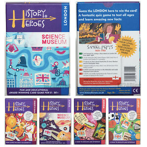 HISTORY HEROES, Educational Card Games for 8+, CHOOSE FROM 11 THEMES