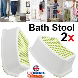 2x CHILD BATH STEP STOOL POTTY TRAINING BABY BATHROOM ANTI SLIP UK