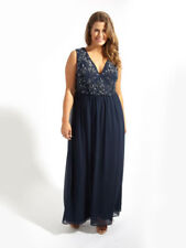 BNWT Lovedrobe LUXE Navy Wrap Embellished Beaded Maxi Evening Occasion Dress 26