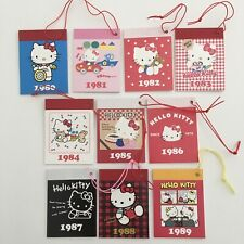 Sanrio Hello Kitty Trinket Mini Memo Pads 1980-1989 10 Pcs 35th Anniversary