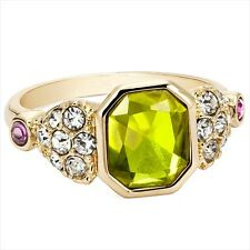 Avon Sparkle Surprise Ring Celebrity Bling Gold Colour Cocktail Dress Ring BNIB